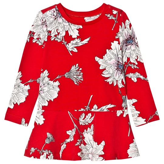 Tom Joule Red Peony Print Jersey Dress RED PEONY FLOWER