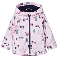 Joules Raindance Waterproof Rubber Raincoat Pink Multi Cat ROSE PINK CAT