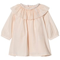 Chloé Pale Pink Ruffle Neck Twill Dress 471