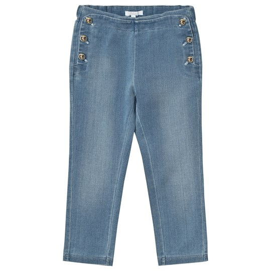 Chloé Chambray Jeggings with Gold Details Z10