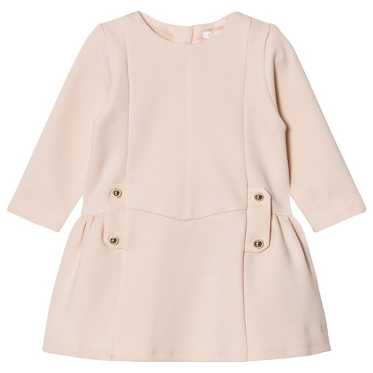 Chloé Milano Dress with Branded Hardware Pale Pink 471