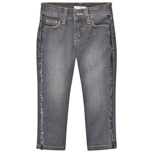 Image of Billieblush Light Wash Slim Fit Jeans with Glitter Trim 4 years (2743738103)