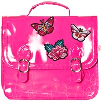 Billieblush Butterfly Applique Patent Satchel Hot Pink 49H