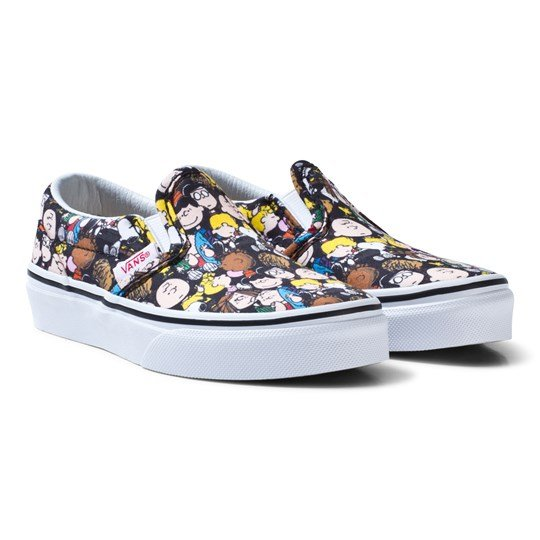 1e3472ea808d Vans Vans X Peanuts Classic Slip-On Shoes (Peanuts) The Gang black