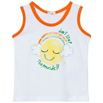 United Colors of Benetton Music Print Tank Top White White