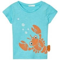 United Colors of Benetton Lobster Print T-Shirt Aqua Blue Aqua Blue