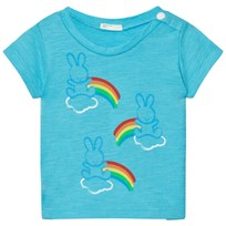 United Colors of Benetton Bunny Cloud Print T-Shirt Bright Blue Bright Blue