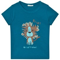 United Colors of Benetton Lion Print T-Shirt Blue Blue