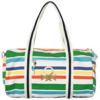 United Colors of Benetton Stripe Holdall Bag With Logo Multi Multi