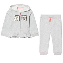 Billieblush Grey Marl Applique Heart Peplum Tracksuit A07