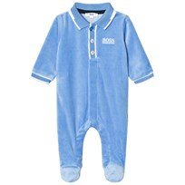 BOSS Footed Baby Body Blue Velour