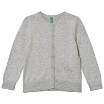 United Colors of Benetton Classic Knit Cardigan Light Grey Light Grey