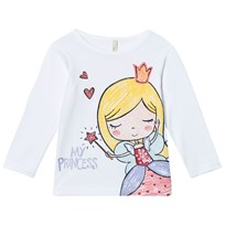 United Colors of Benetton Princess Print Tee White White