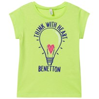 United Colors of Benetton Light Bulb Logo Tee Lime Lime
