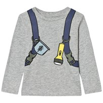 Stella McCartney Kids Grey Back Pack Barley Boy Tee 1461