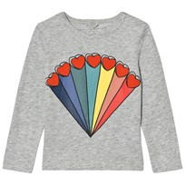 Stella McCartney Kids Grey Rainbow Heart Bella Tee 1461