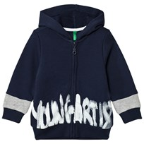 United Colors of Benetton Young Artist Hoodie Navy Laivastonsininen