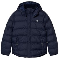 Timberland Hooded Puffer Jacket Navy 85T