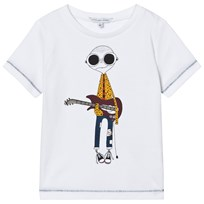 Little Marc Jacobs White Mr Marc Guitar Player Tee 10B