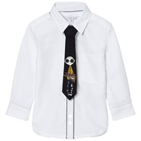 Little Marc Jacobs White Shirt with Mr Marc Print Tie 10B