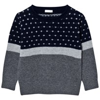 Il Gufo Patterned Sweater Navy/Grey 0849