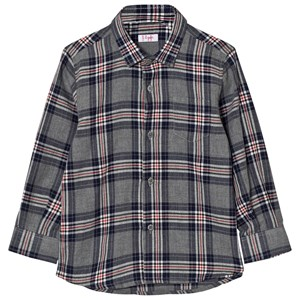 Image of Il Gufo Grey and Navy Multi Check Shirt 14 years (2743768941)