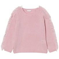 Il Gufo Frill Shoulder Sweater Pale Pink 313
