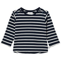 Carrément Beau Navy and White Stripe Tee V91