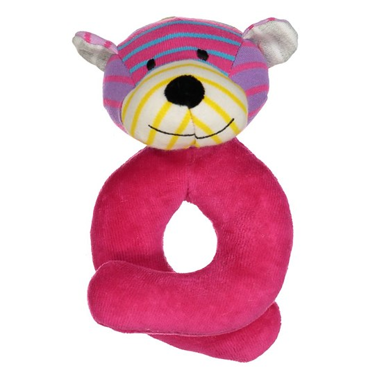 Geggamoja Bear Rattle Mixed Colors Pink Mix