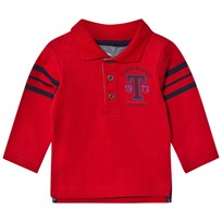 Timberland Red Jersey Letter Long Sleeve Polo 986