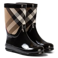 Burberry Black Nova Check Wellies Black