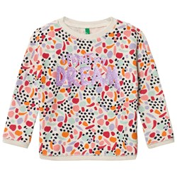 United Colors of Benetton Sweater With Glitter Text