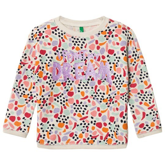 United Colors of Benetton Sweater With Glitter Text Multi