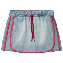 United Colors of Benetton Washed Denim Skirt Light Blue Light Blue