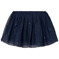 United Colors of Benetton Layered Tulle Skirt With Glitter Cats Navy Marinblå
