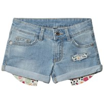 United Colors of Benetton Washed Turn Up Denim Shorts Light Blue Light Blue