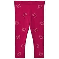 United Colors of Benetton Sparkly Butterflies Leggings Cherry Pink Cherry Pink
