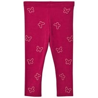 United Colors of Benetton Leggings Sparkly Butterflies Cherry Pink Cherry Pink
