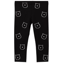 United Colors of Benetton Sparkly Cat Faces Leggings Svart Black