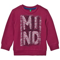 United Colors of Benetton Printed Sweatshirt Burgundy Burgundy
