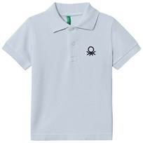 United Colors of Benetton Logo Polo Tee Light Blue Light Blue