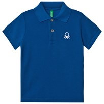 United Colors of Benetton Logo Polo Tee Blue Blue