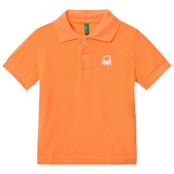United Colors of Benetton Classic Logo Polo T-Shirt S/S Orange