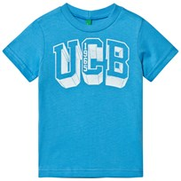 United Colors of Benetton Logo Tee Bright Blue Bright Blue