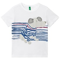 United Colors of Benetton S/S Dog Print Crew Neck T-Shirt White White