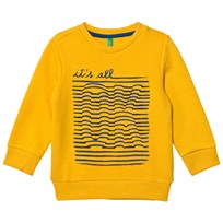 United Colors of Benetton Printed Jersey Sweater L/S Yellow Yellow