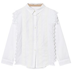 Burberry Broderie Anglaise Larcy Blus Vit