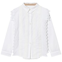 Burberry White Broderie Anglaise Larcy Shirt White