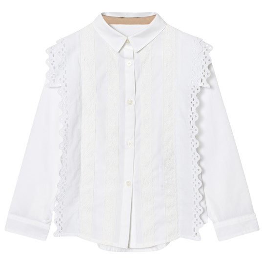 Burberry Broderie Anglaise Larcy Blus Vit White