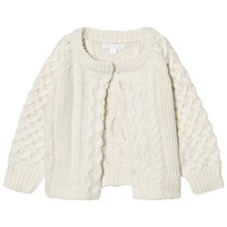 Burberry Cable Knit Wool Cashmere Henriet Cardigan Cream NATURAL WHITE
